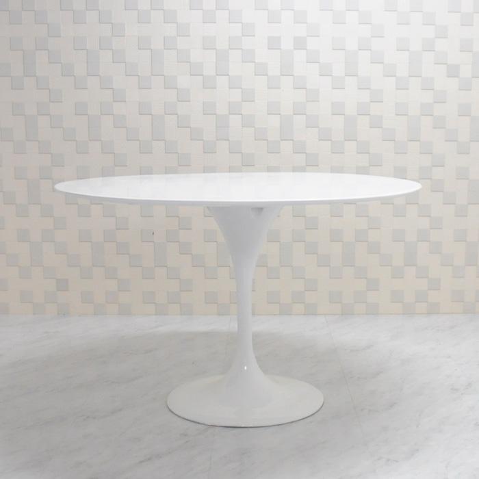 デザイン家具 furniture チューリップテーブル 食卓テーブル 天板直径120cm 安値 色ホワイト エーロサーリネンによるデザイン ジェネリック リプロダクト 大型テーブル 国産品 ダイニングテーブル ラウンドテーブル デザイナーズ家具