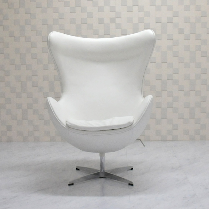 Ibose Egg Chair / Cowhide Leather Specifications White / Arne Jacobsen /  New Eggchair Designers Among Our Customers Personal Sofa One Seat 1 Person  For Sofa ...