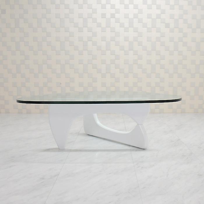 イサムノグチ/コーヒーテーブル/ガラス19mm×ホワイト/高品質デザイナーズテーブル 新品 coffee table Isamu Noguchi ダイニングテーブル センターテーブル ローテーブル 一人用テーブル ちゃぶ台 座卓 インテリア