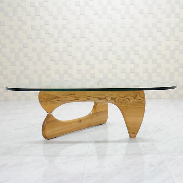 イサムノグチ/コーヒーテーブル/強化ガラス19mm×ナチュラルウッド/高品質デザイナーズテーブル 新品 coffee table Isamu Noguchi センターテーブル 座卓 ちゃぶ台 ダイニングテーブル 一人用 1人用 一人暮らし デザイナーズ家具