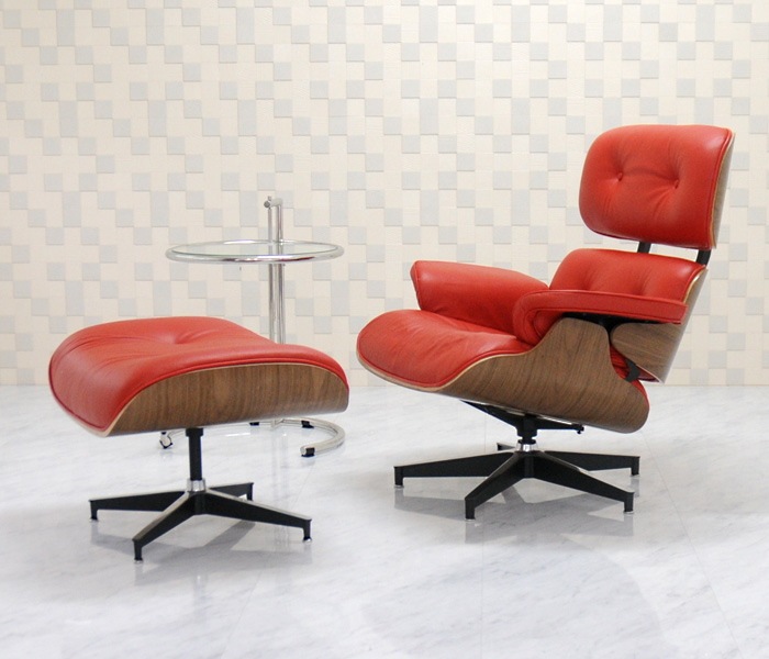Bon Eames Lounge Chair And Ottoman Set □ Color/red □ Finest Total Leather  Sitting Comfortable Is Superb! /Charles Ray Eames Personal Chair Chair Per  Person ...