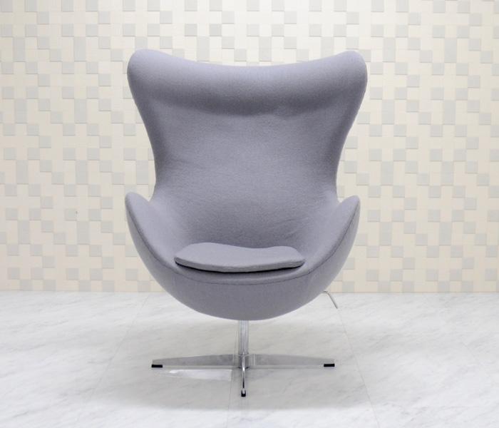 有名 ●日本正規品● 即納 名作 傑作 designers 家具 いす 椅子 イス エッグチェア アルネヤコブセンによるデザイン 色ライトグレー ファブリック仕様 パーソナルソファ デザイナーズ家具 リプロダクト パーソナルチェア ジェネリック