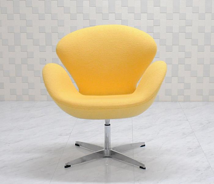 スワンチェア ファブリック仕様 イエロー アルネ・ヤコブセン作 suwan chair red Arne Jacobsen イス いす 椅子 パーソナルチェア カウンターチェア