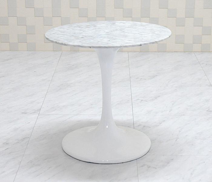 チューリップテーブル 大理石天板 直径50cm/ホワイト white/エーロ・サーリネン作/新品 tuliptable Eero Saarinen ちゅーりっぷテーブル パーソナルテーブル サイドテーブル ダイニングテーブル デザイナーズ リプロダクト TABLE 白 送料込み