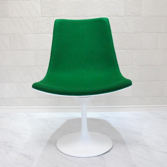 チューリップデザインチェア グリーン ダイニングチェア イス 椅子 いす