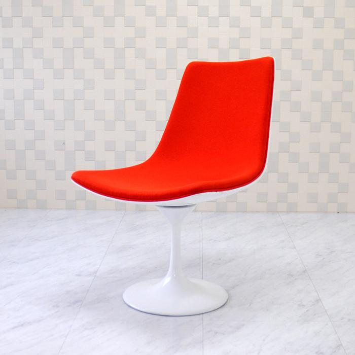 チューリップデザインチェア オレンジ ダイニングチェア イス 椅子 いす