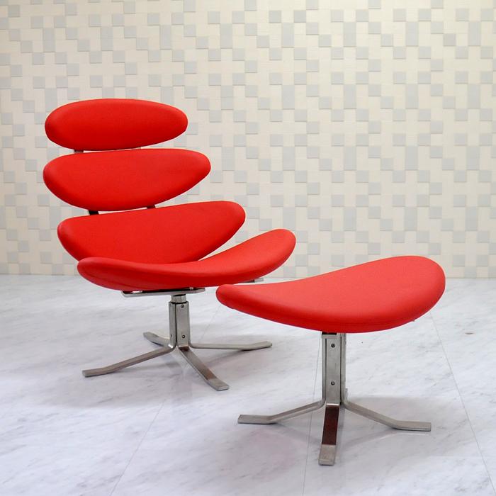コロナチェア レッド ポール・M・ボルザー デザイナーズ家具 リプロダクト ソファ sofa 椅子 いす