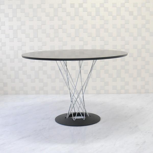 イサムノグチ サイクロンテーブル 110Φ 天板ブラック 丸テーブル ダイニングテーブル コーヒーテーブル isamu noguchi