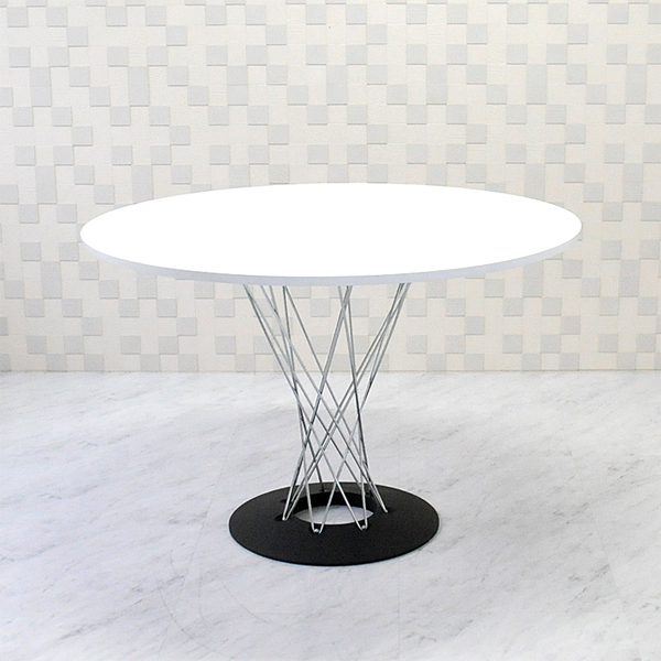 isamu noguchi ダイニング キッチン テーブル table 机 リプロダクト  イサムノグチ サイクロンテーブル 110Φ 天板ホワイト 丸テーブル ダイニングテーブル コーヒーテーブル isamu noguchi