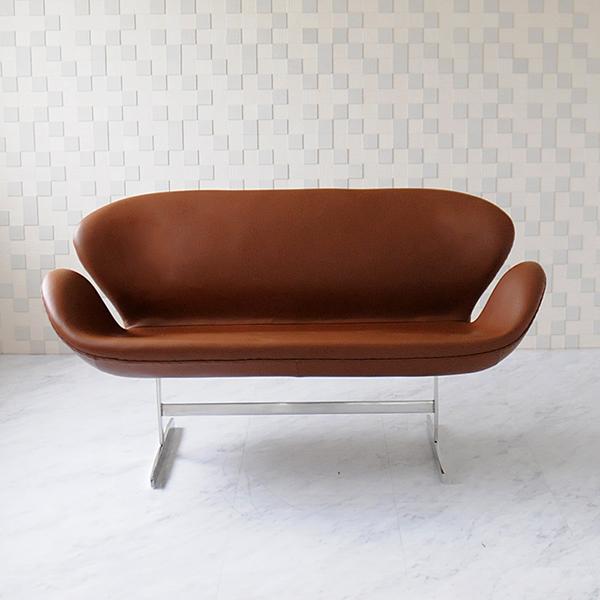 Arne Jacobsen Swan Sofa Total Leather Aniline Specifications Brown Swansofa Swansea