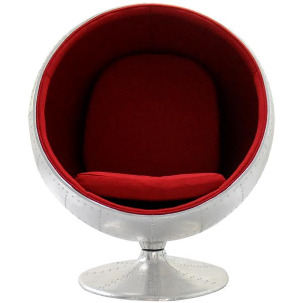 限定モデル ボールチェア アルミ外装モデル エーロ・アールニオ デザイン Eero Aarnio ball chair ソファ ソファー 椅子 イス いす