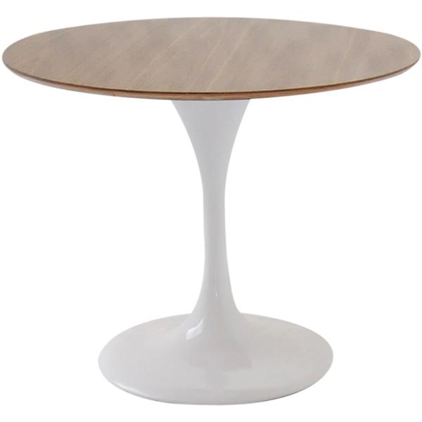 チューリップテーブル 直径90cm 木製天板/ホワイト white/エーロ・サーリネン作/新品 tuliptable Eero Saarinen ちゅーりっぷテーブル パーソナルテーブル サイドテーブル ダイニングテーブル デザイナーズ リプロダクト
