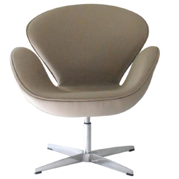 スワンチェア アルネヤコブセン 総本革張り モスベージュ suwanchair Arne Jacobsen イス いす 椅子 パーソナルチェア