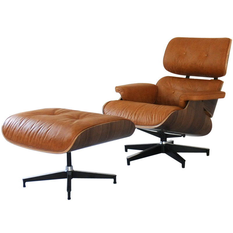 Charles Eames Lounge Stoel.Eames Lounge Chair Vintage Camel X Walnut Oil Wax Leather Total Leather Charlesrayeames Among Our Customers Per Person For One Seat Chair Chair Couch
