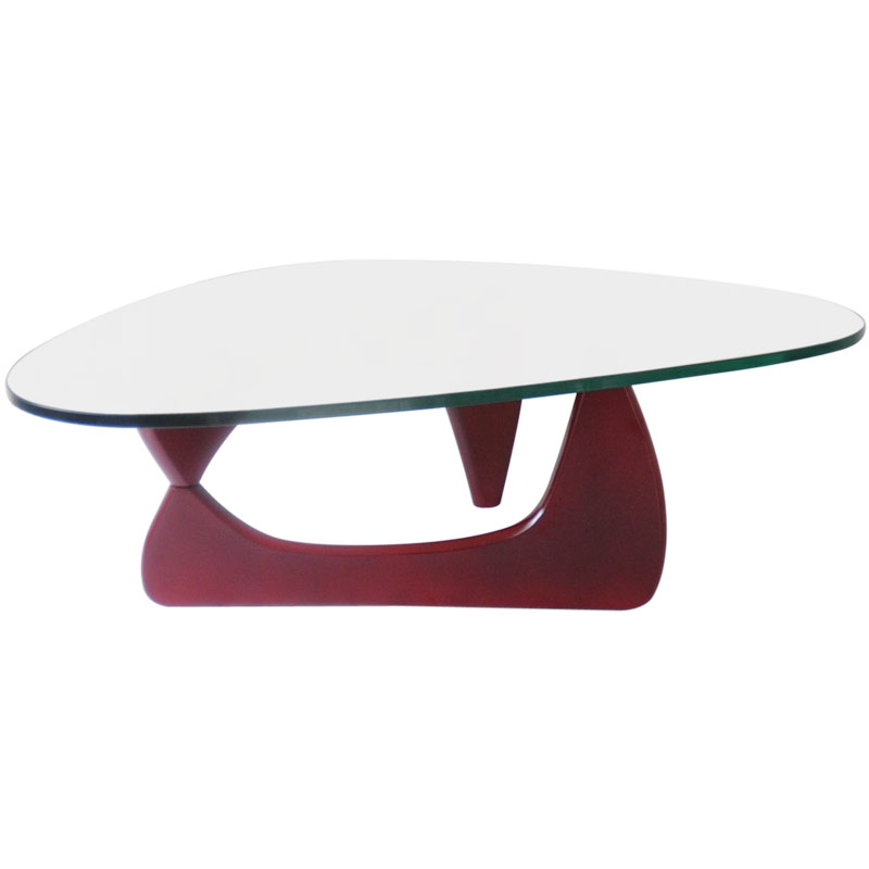 noguchi coffee table base only glass mm burgundy high quality designer brand used room and board