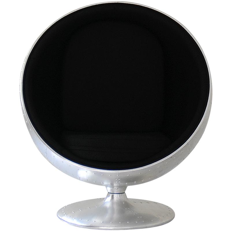 限定モデル ボールチェア シルバー×ブラック アルミ外装モデル エーロ・アールニオ デザイン Eero Aarnio ball chair ソファ ソファー 椅子 イス いす