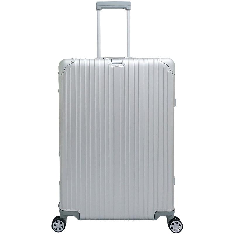 アルミニウム製スーツケース 色シルバー/ブラック Lサイズ 89L 28インチ 日本製ダブルキャスター TSAロック採用 キャリーケース 旅行かばん 旅行鞄 アルミスーツケース トランクケース