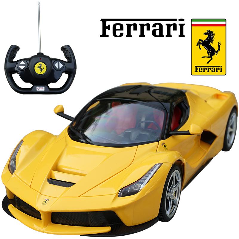 Ferrari LaFerrari 1 14 スケール 保障 ミニカー プレセント ラジコン フェラーリ La フェラーリ正規ライセンス品 キッズ 大注目 イエロー スポーツカー 正規 RC ラ スーパーカー