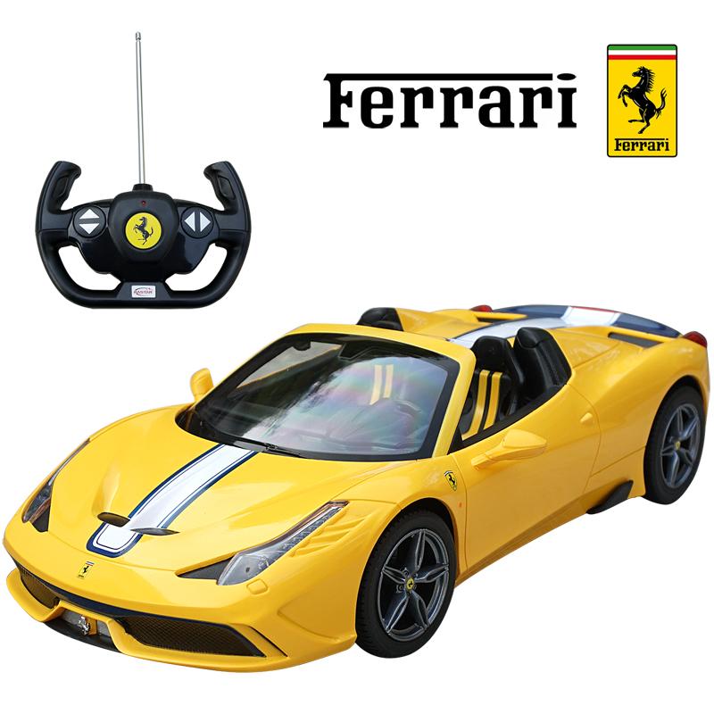 458スペチアーレA 1 14 スケール SALENEW大人気 ミニカープレセント イエロー RC ラジコン フェラーリ正規ライセンス品 ミニカー お気に入り