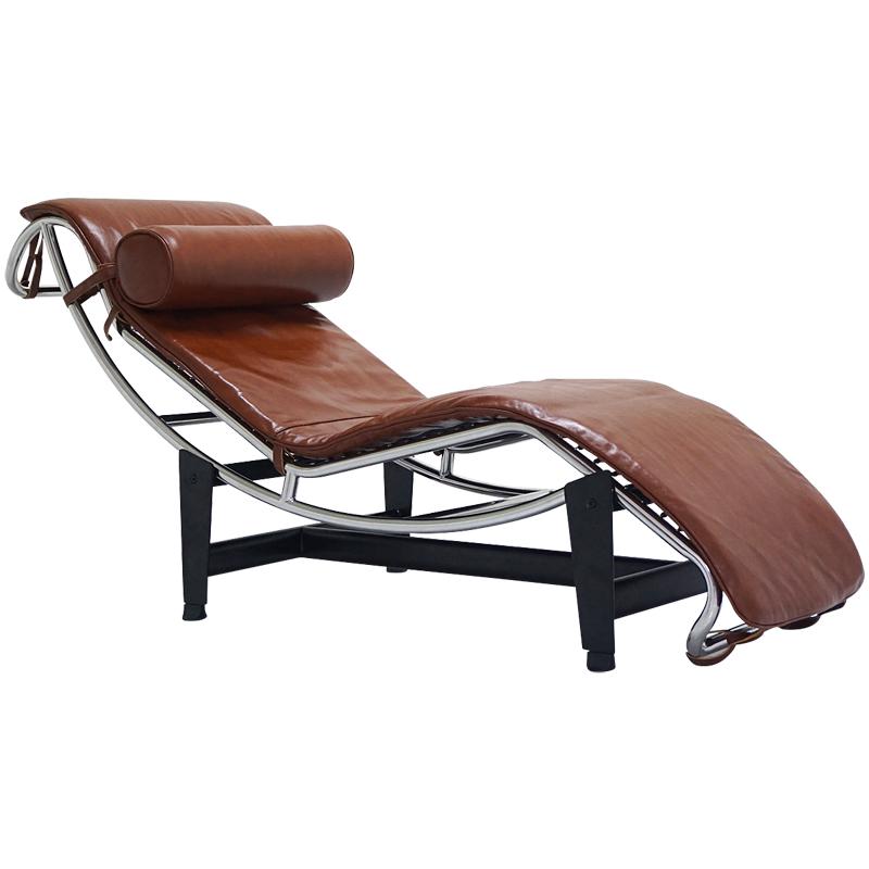 ル・コルビジェ LC4 シェーズロング 本革仕様 タン Le Corbusier Italian leather リプロダクト デザイナーズ家具 ベッド ソファベッド ルコルビジェ パーソナルソファ 一人用 一人掛け