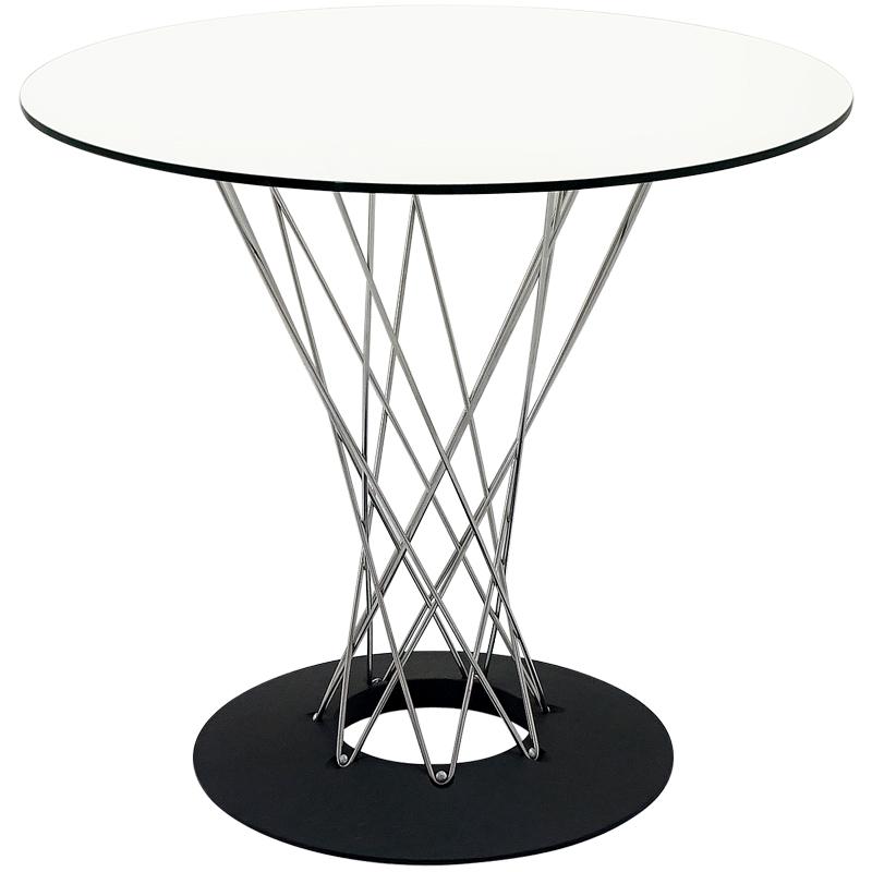 イサムノグチ サイクロンテーブル 80Φ 天板ガラス 丸テーブル ダイニングテーブル コーヒーテーブル isamu noguchi