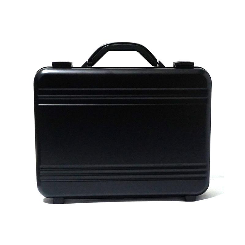 アルミ製 アタッシュケース Mサイズ B4サイズ対応 ブラック 軽量モデル ノートパソコン収納可能 ビジネスバッグ ブリーフケース PCケース パソコンバッグ