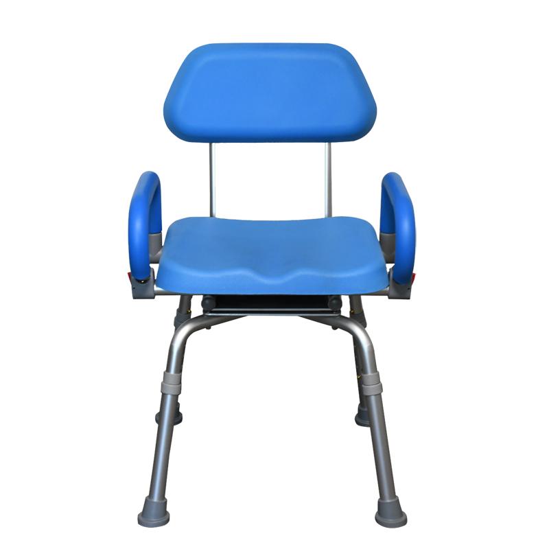 高品質シャワーチェア シャワーチェア 肘掛付き 座面360度回転 高さ5段階調整 軽量 コンパクト 安心設計 介護用品 介護補助 高齢者介護 入浴補助 リハビリチェア バスチェア イス 椅子 showerchair