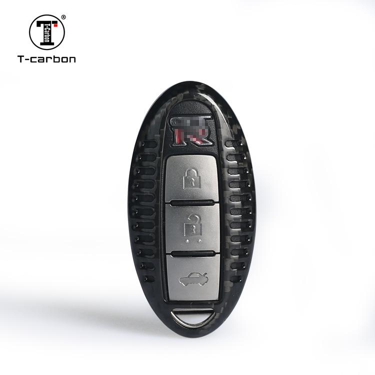R35 GT-R 他日産車用 カーボン製キーカバー リアルカーボン ドライカーボン製 スマートキーケース 高品質 軽量 ハイクオリティ NISSAN