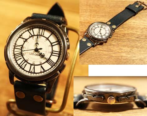 時計作家のこだわり手作り腕時計 LEO CRAFT レオクラフト メンズ BS-GW121/送料無料