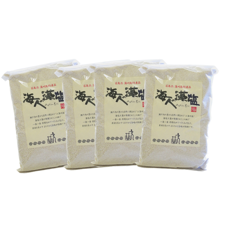 広島 蒲刈 藻塩 海人の藻塩 ショップ ホンダワラ 初売り 送料無料 塩 お取り寄せ 海人の藻塩業務用1キロ詰袋 蒲刈物産 おみやげ 4個セット まとめ買い