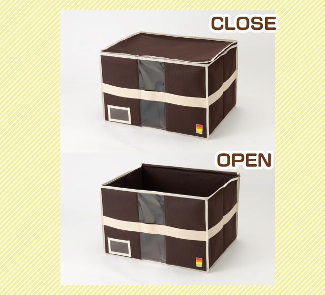【5個セット】収納ケース 収納ボックス フタ付き 【衣類やふとんをスッキリ収納!クローゼット上収納ケース《L》】 おしゃれ ふた付きコンパクト ファブリック収納 整理 片付け 衣装ケース 衣装収納 新生活応援