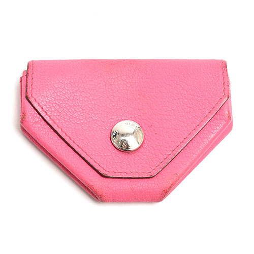 31db8be07c39 Hermes HERMES ルヴァンキャトル coin purse coin case leather □ O Lady s men pink  np01080112