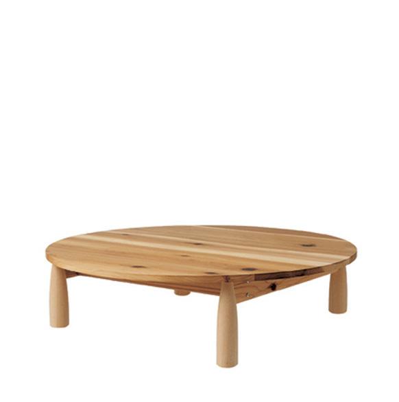 【飛騨産業】HIDA リビングテーブル (W120 D120 H35) Cerreto 圧縮杉 ブナ NY2色 EM372LT