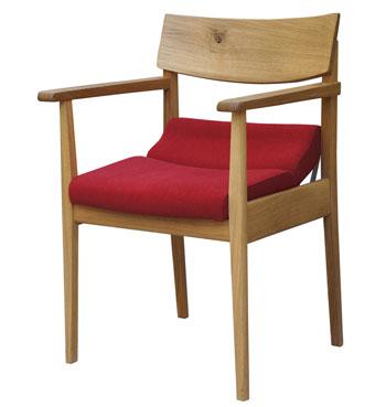 【飛騨産業】腰にやさしい椅子 骨盤サポート・角度調節タイプ(節なし・ハイタイプ) ナラ材