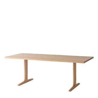 【飛騨産業】 風のうた テーブル fx327wp 国産ナラ(節入り)