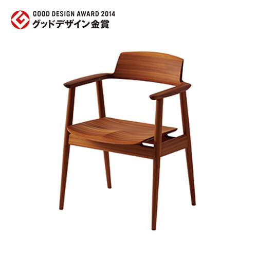 【飛騨産業】 KISARAGI アームチェア kj201a 杉圧縮柾目材