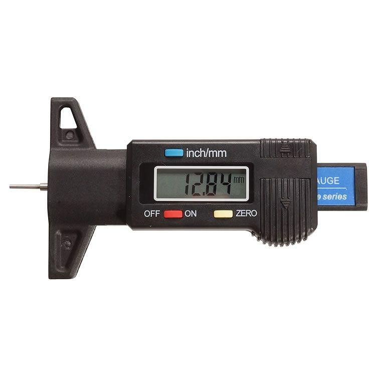 デジタル表示でタイヤの残り溝を簡単に測定可能 デジタル デプスゲージ タイヤ メンテナンス 残り溝 チェッカー 計測 車 PR-DEPTH-GAUGE メール便 送料無料 測定 ランキング総合1位 爆売りセール開催中 測量 バイク