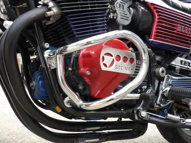 CBX400F エンジンガード 新品 メッキ マフラー