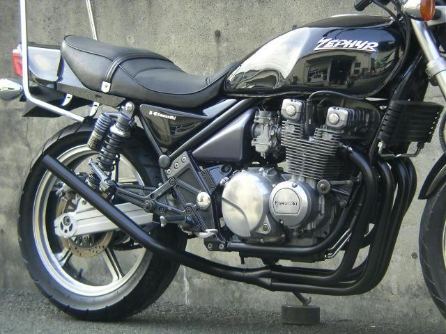 【Pretty Racing】【プリティーレーシング】【マフラー】【バイク用】  ゼファー400/Χ スリム管 42.7π 新品 マフラー ブラック
