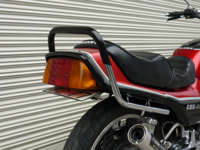 CBX400F メッキ極太ゴム巻きタンデムバー