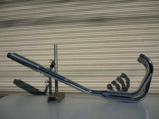 GSX250S刀 4-1管 ALサイレンサー 50.8π メッキ マフラー