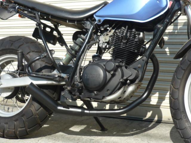 TW200 TW225 ショート管 60π 新品 マフラー ブラック