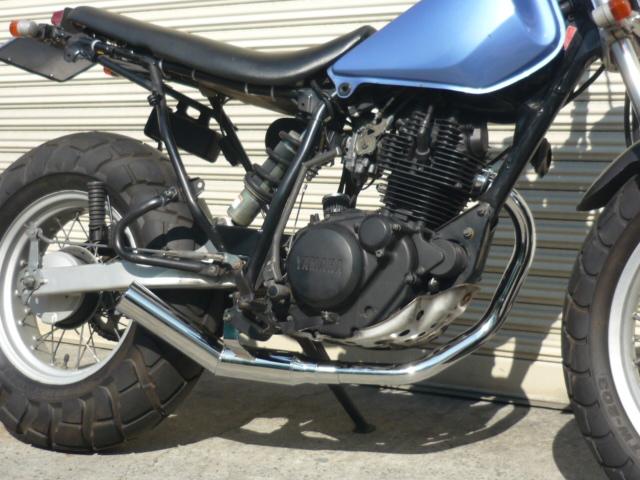 TW200 TW225 ショート管 60π 新品 マフラー メッキ