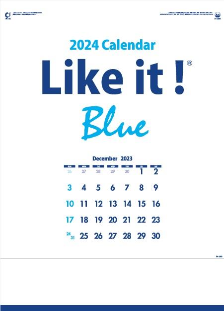 カレンダー 名入れカレンダー文字月表(Like it! Blue)30冊令和3年 2021年