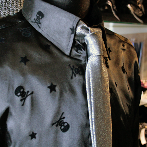 Star Skull Dress Shirts Wedding Shirt Stand Collar Cool Biz Y