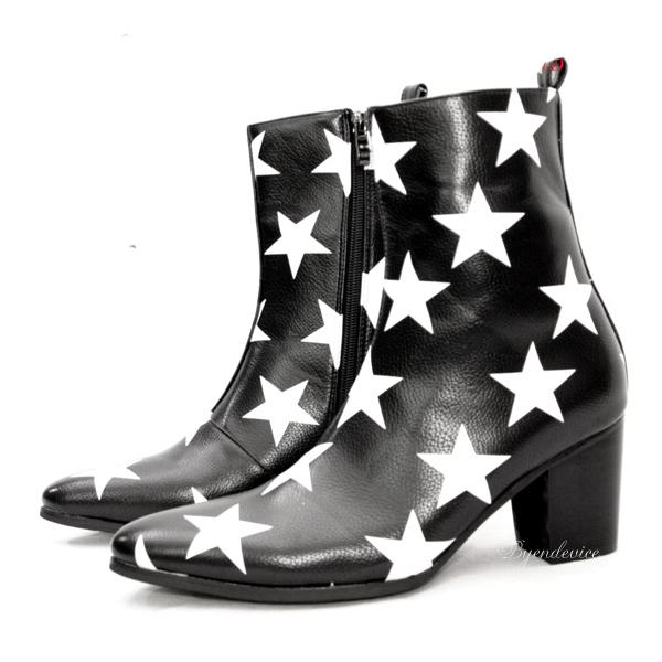 メンズブーツ/Star Boots・カジュアルブーツ・おしゃれブーツ・カッコイイブーツ・秋ブーツ・ビジュアル系ブーツ