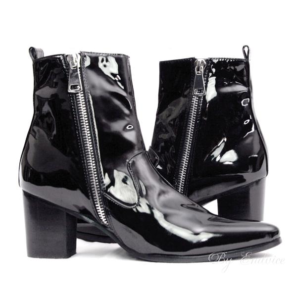 エナメルブーツ・Hyper Enamel Boots /衣装ブーツ・コスプレブーツ・ホストブーツ・ビジュアル系ブーツ,ステージ衣装ブーツ,メンズブーツ