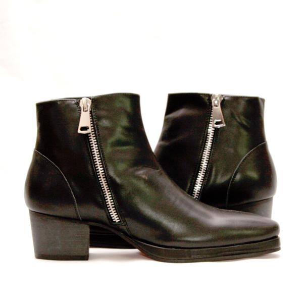 Lether Wedge Heel Boots/本革ヒールブーツ・衣装ブーツ・コスプレブーツ・ホストブーツ・ビジュアル系ブーツ,ステージ衣装ブーツ,メンズブーツ