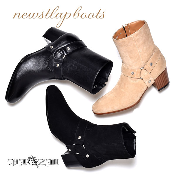 ProStlapBoots メンズブーツ・ヒール高いブーツ・衣装ブーツ・カッコイイブーツ・おしゃれ ブーツ・ホストブーツ・ブーツ 男物・ロック ブーツ