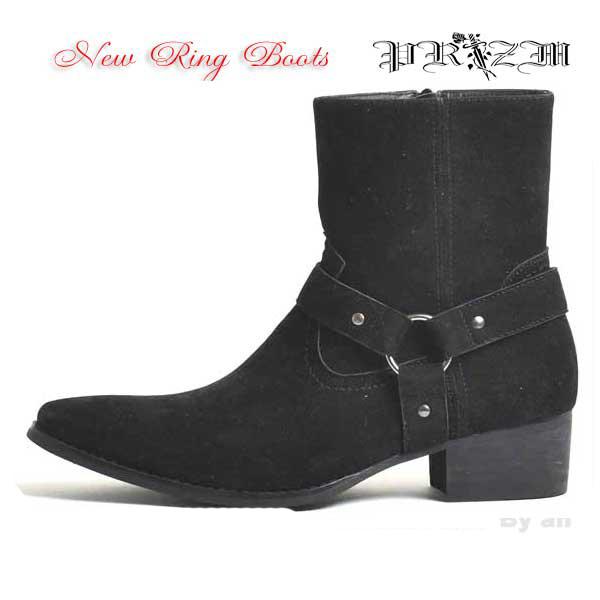 メンズブーツ/Ring Boots・カジュアルブーツ・おしゃれブーツ・カッコイイブーツ・ブーツ・ビジュアル系ブーツ